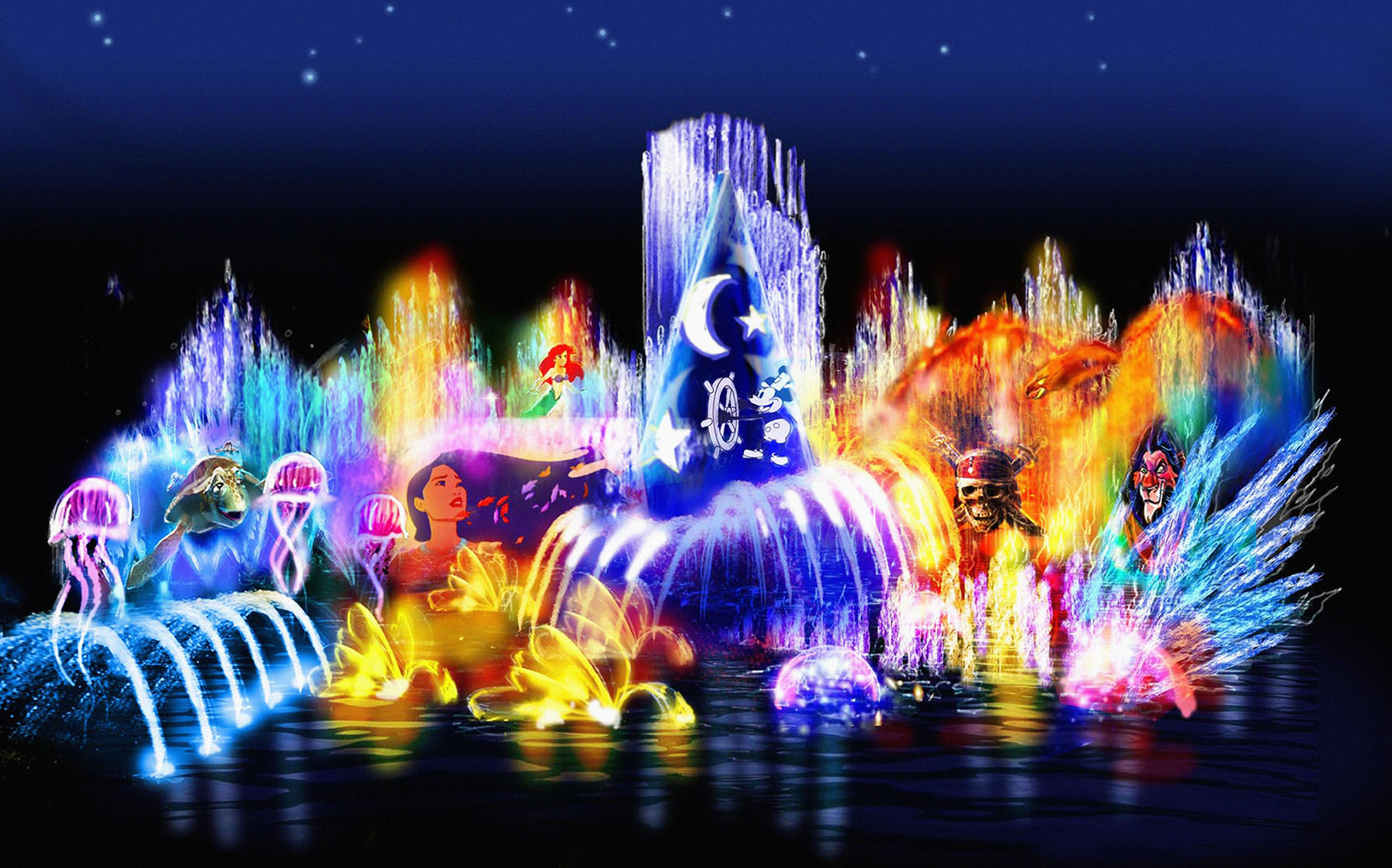 Walt Disney Wallpapers World of Color walt disney characters 28773151 2560x1597