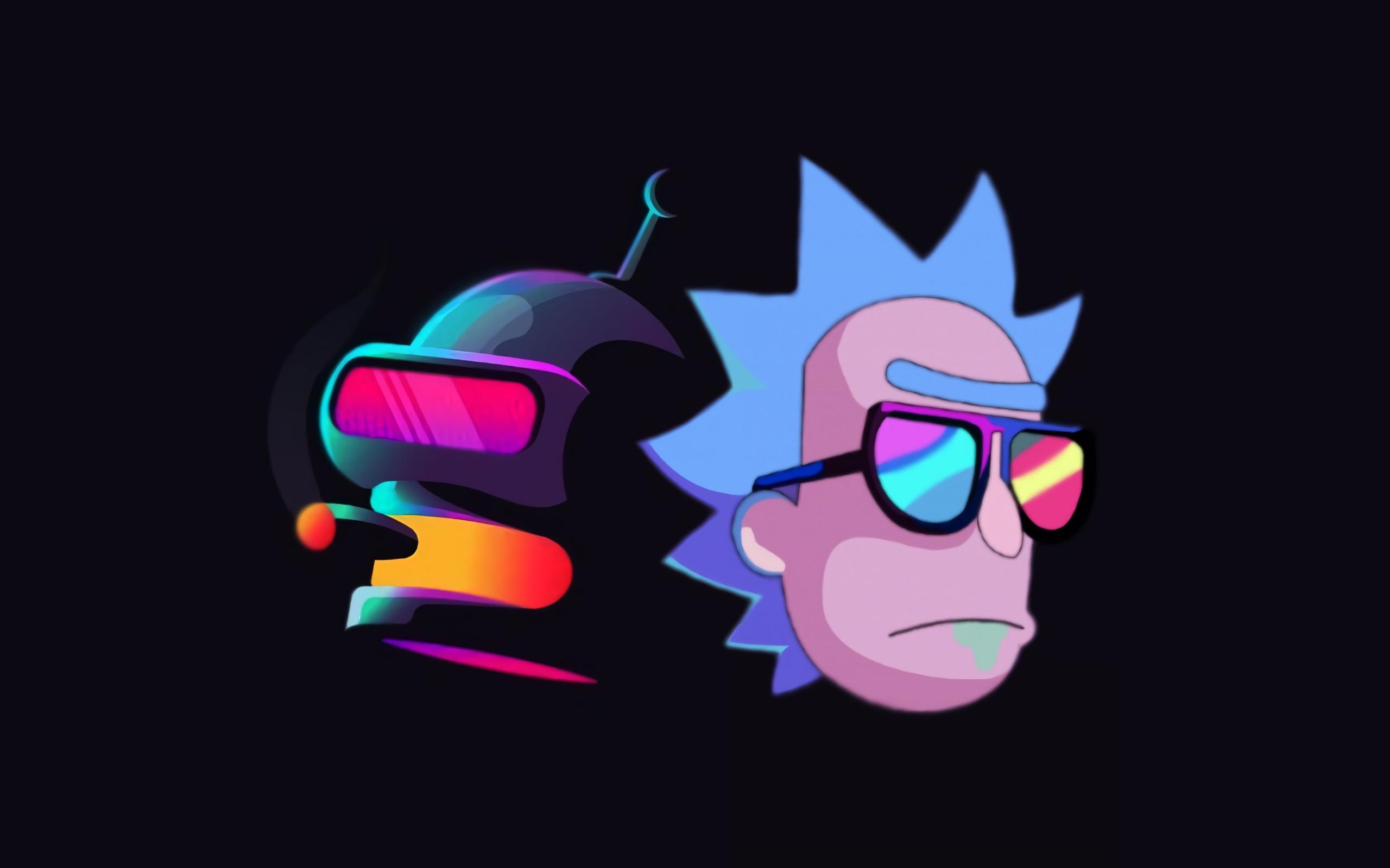 Wallpaper of Bender Futurama Rick Sanchez Rick and Morty 2560x1600