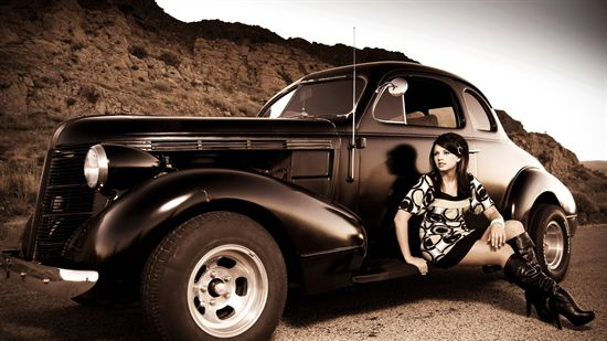 Car n Girl super wallpaper   bCarWallpapers 550x309
