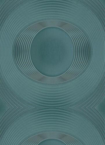 Seven Five non woven wallpaper 5803 18 580318 circles green metallic 362x500