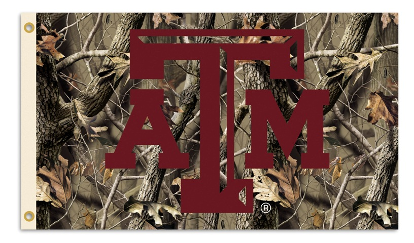 REALTREE CAMO 3 X 5 TEXAS A M Texas AM Aggies 3 Ft X 5 Ft Flag W 816x480