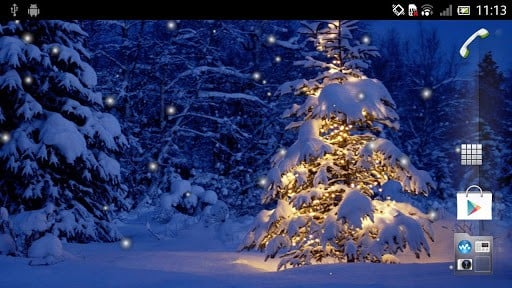 View bigger   Christmas Tree Live Wallpaper for Android screenshot 512x288