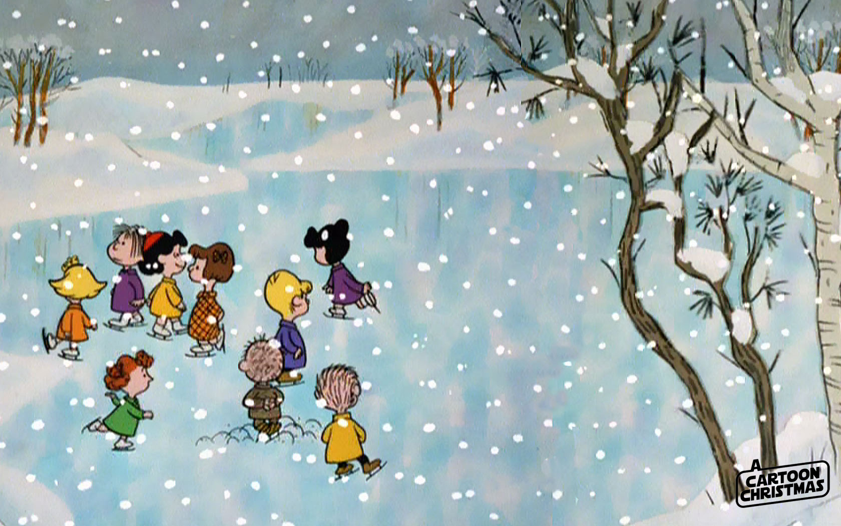 Charlie Brown Chrismas Wallpapers right here    A Cartoon Christmas 1680x1050
