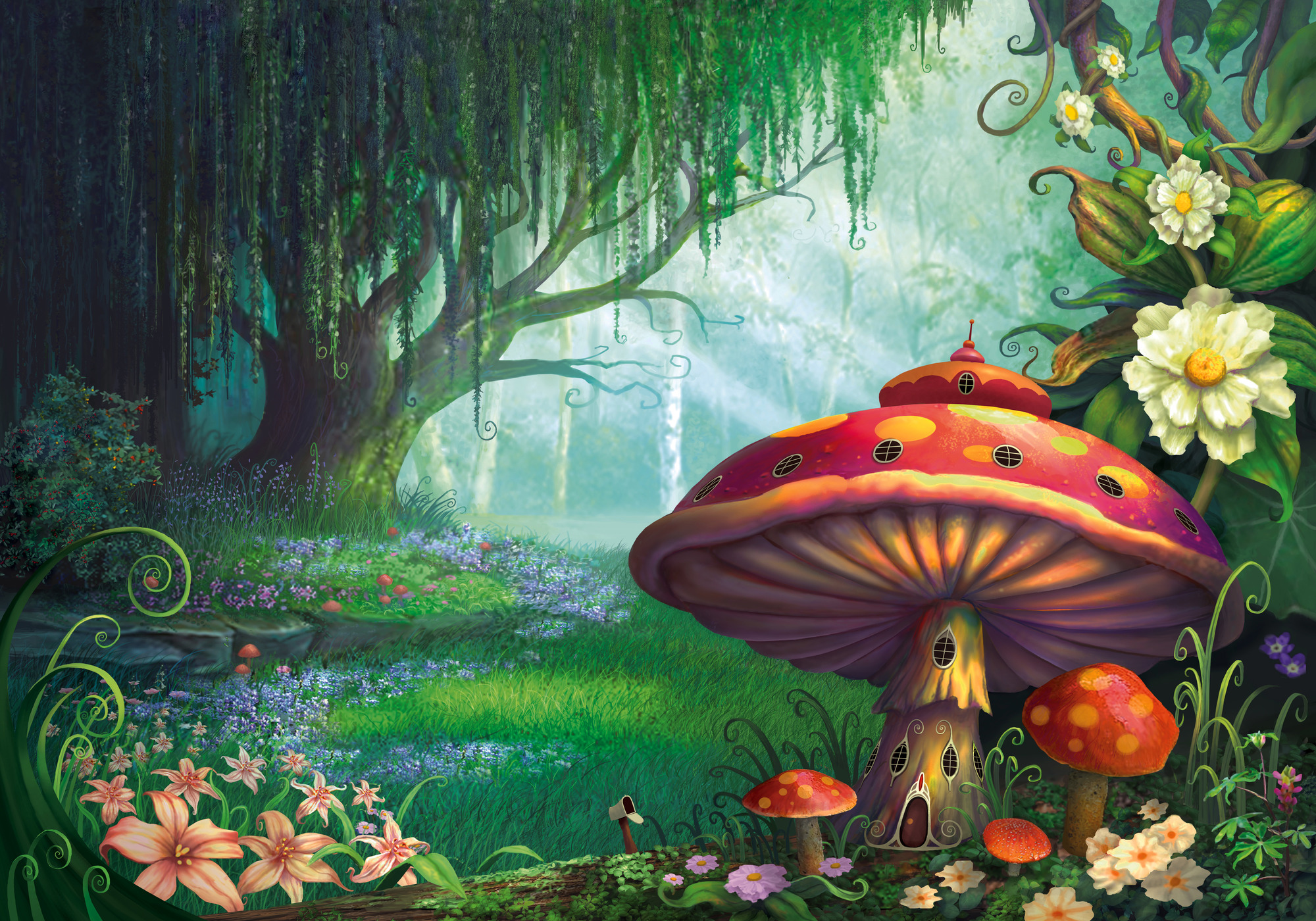 enchanted fairy forest -