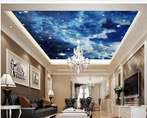 50 3d Ceiling Wallpaper On Wallpapersafari