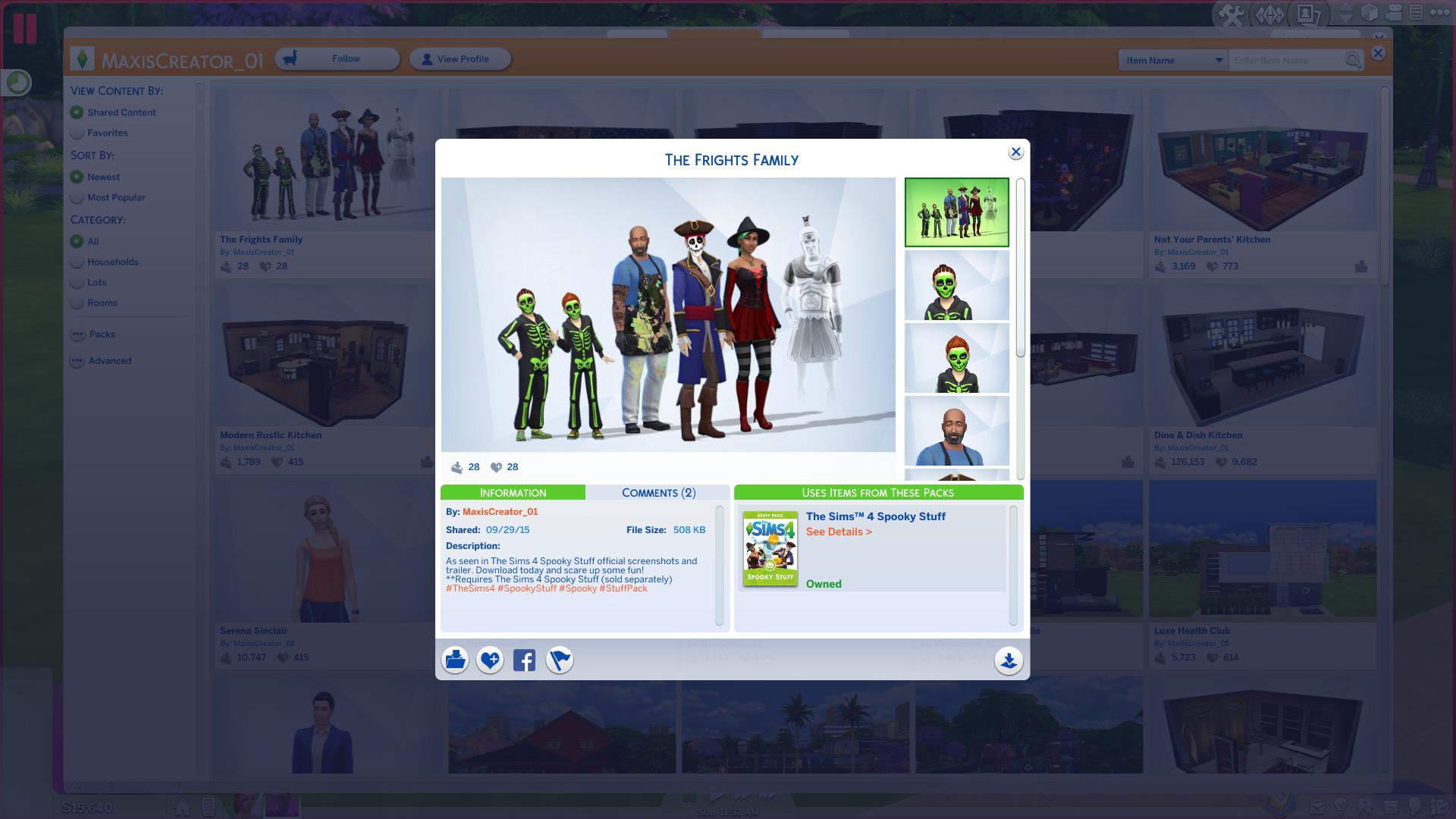 The Sims 4 Spooky Stuff Official Promo Rooms and Household 1920x1080