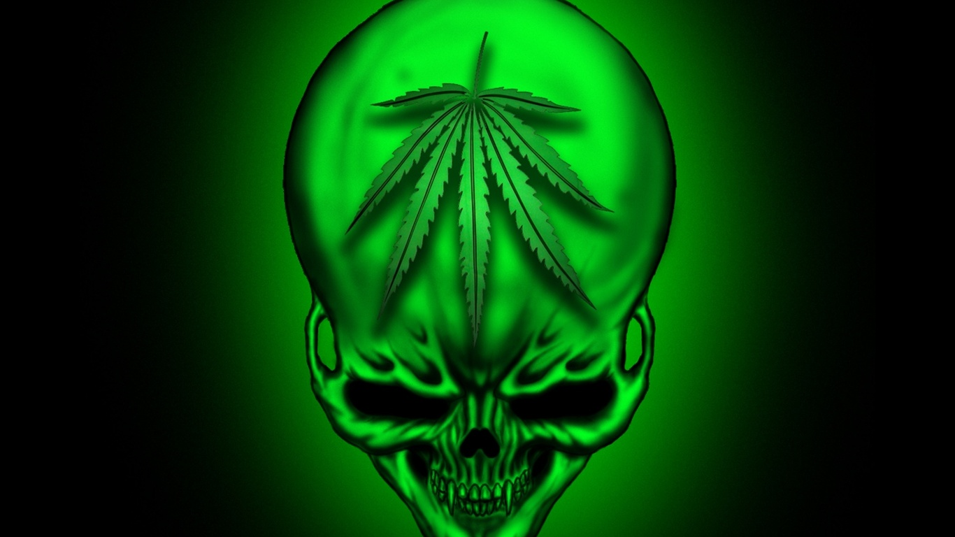 Trippy Weed Wallpapers Hd   WeedPad Wallpapers 1366x768