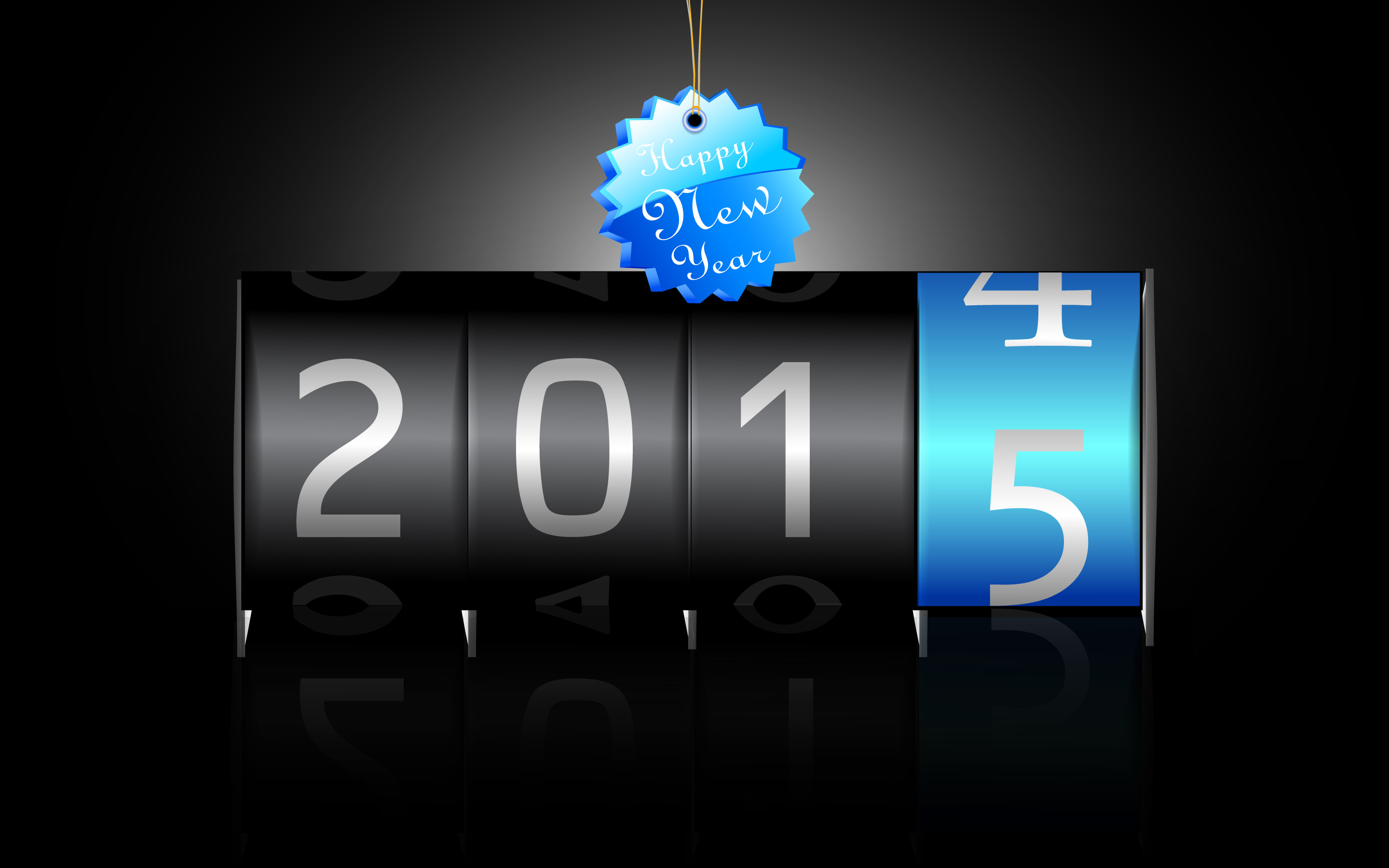download Happy New Year 2015 HD Wallpaper Android Stock 2880x1800