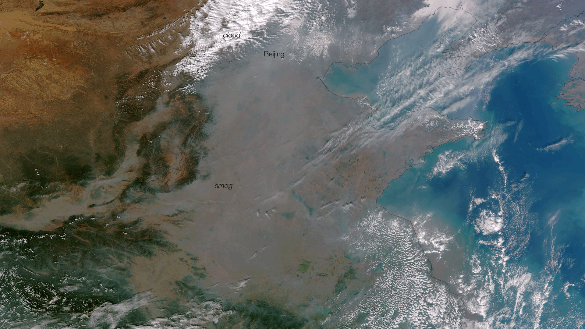 Chinas Smog As Seen From Space WMKY 1920x1080