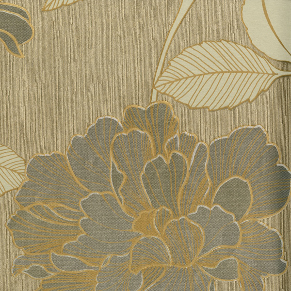 Floral Gold Trail Wallpaper Harry Corry Limited 600x600