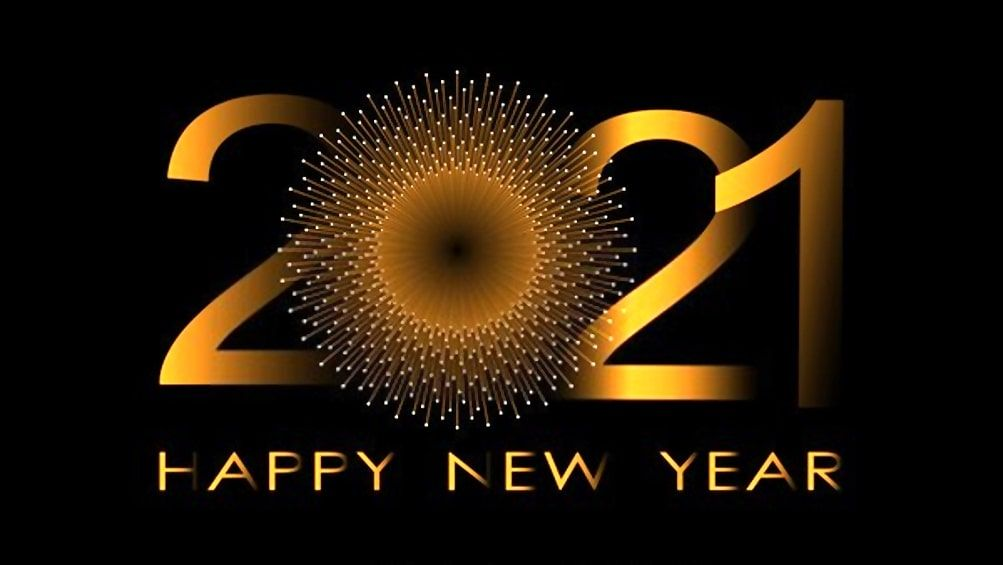 Stunning Happy New Year 2021 Wallpaper in 2020 Happy new year 1003x565