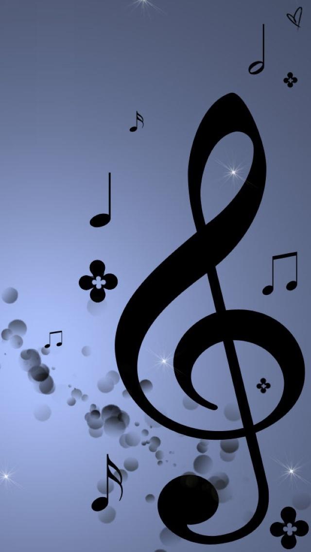Blue Music Notes Wallpaper