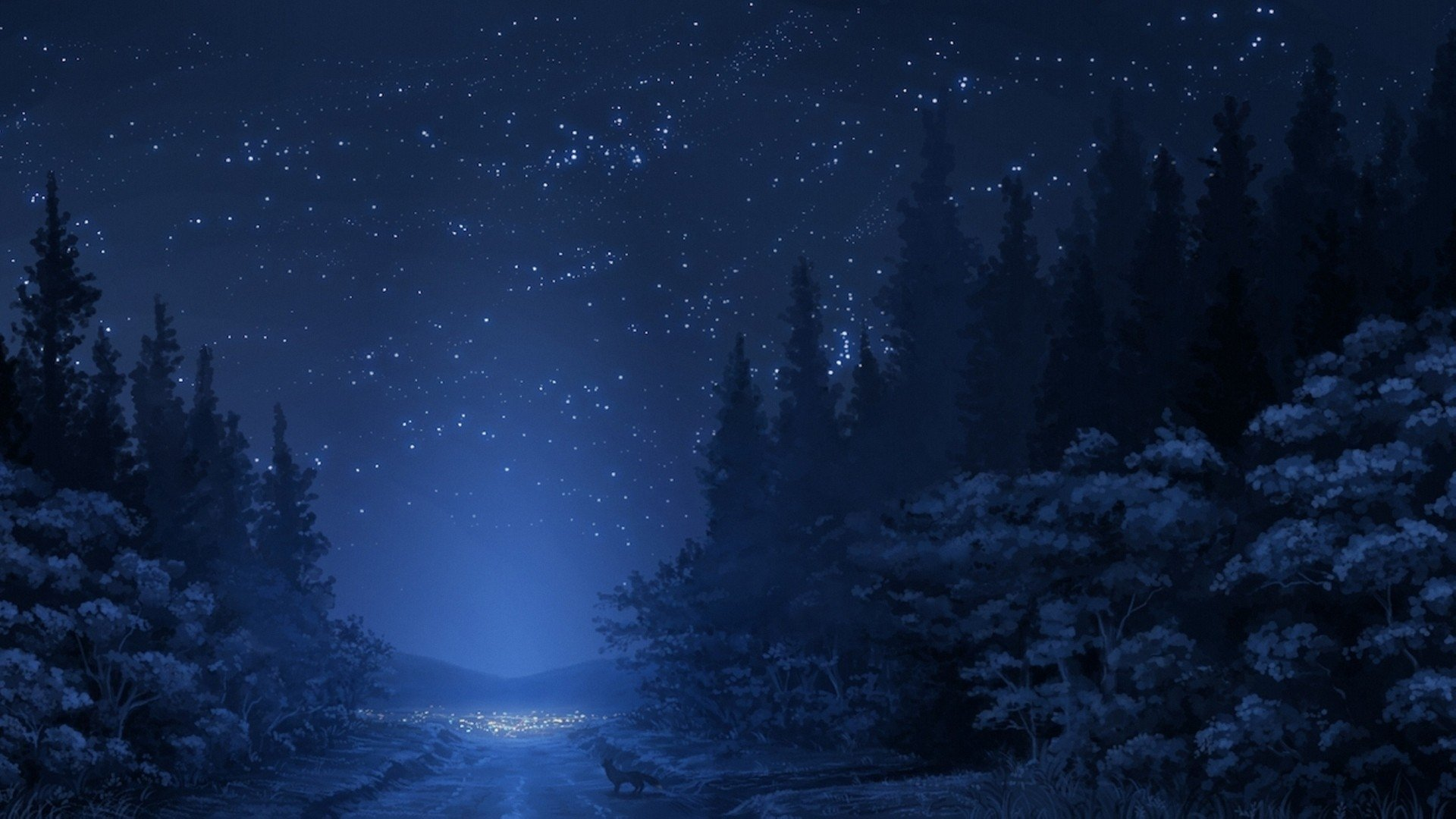Winter night sky Mac Wallpaper Download Mac Wallpapers Download 1920x1080