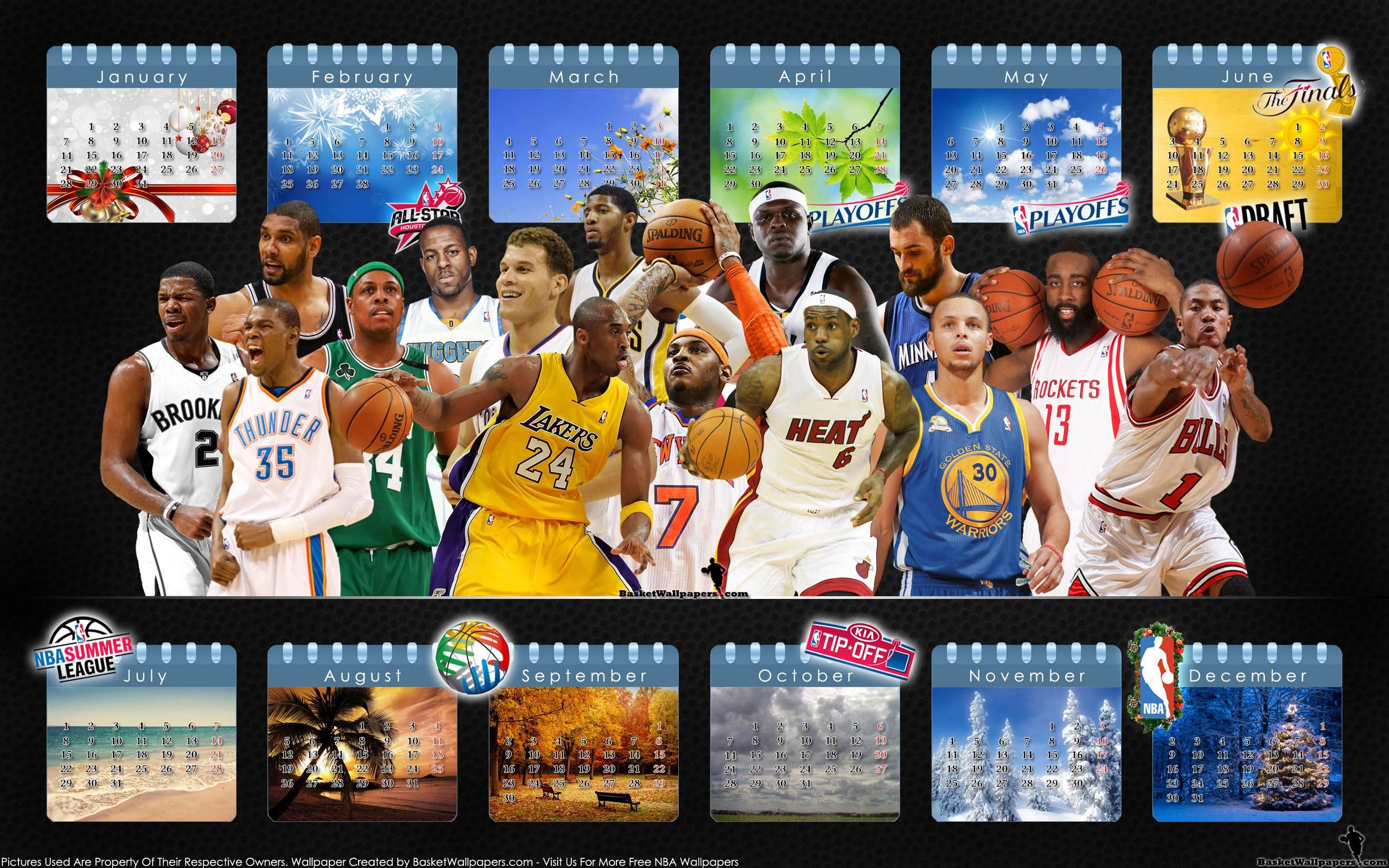 2013 NBA Calendar Cool Wallpaper   NBA Wallpaper 2560x1600