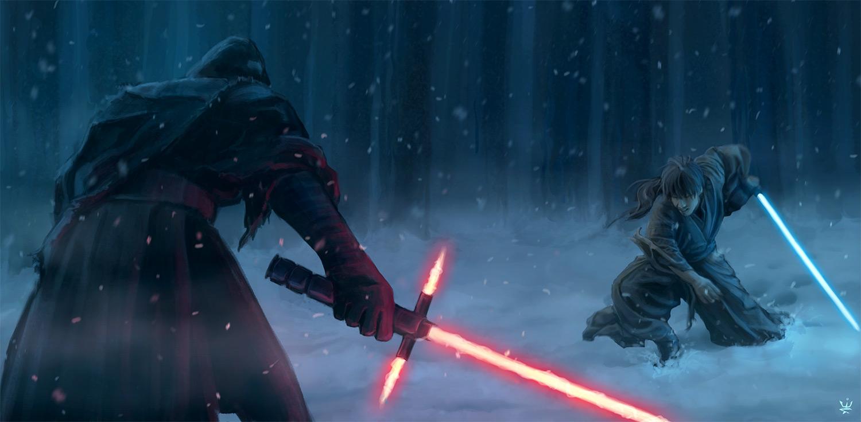Sith vs Jedi Star Wars by Kirana 1500x736