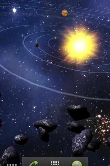 Asteroid Belt Live Wallpaper 360x540