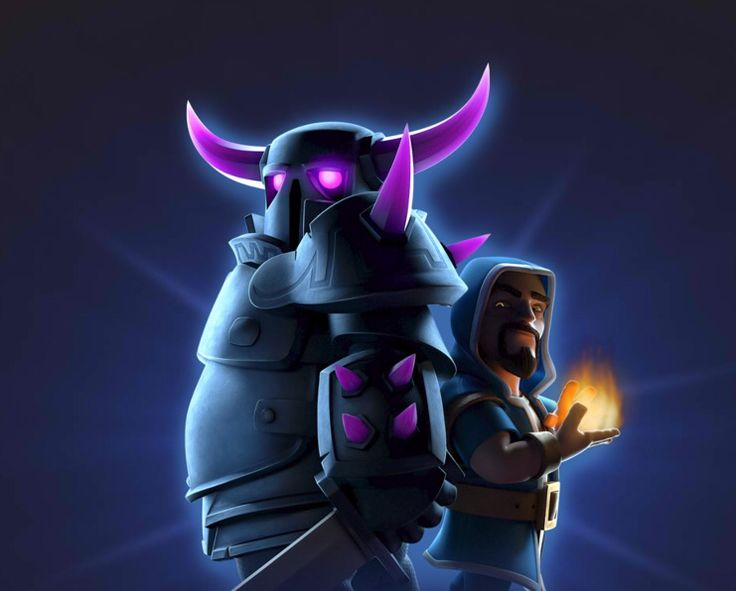 Pekka and wizard tandem clash of clash Pinterest 736x591