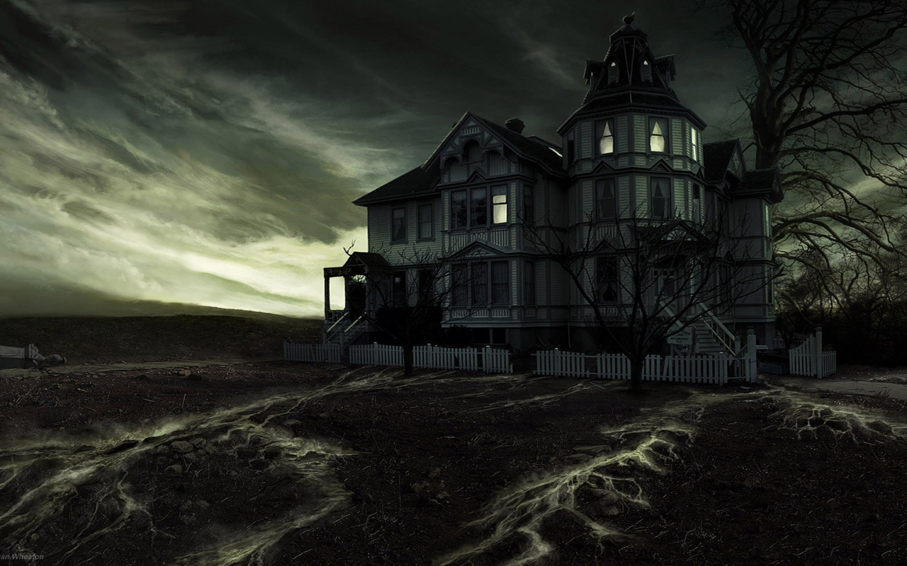 Ghost House wallpaper 1280x800