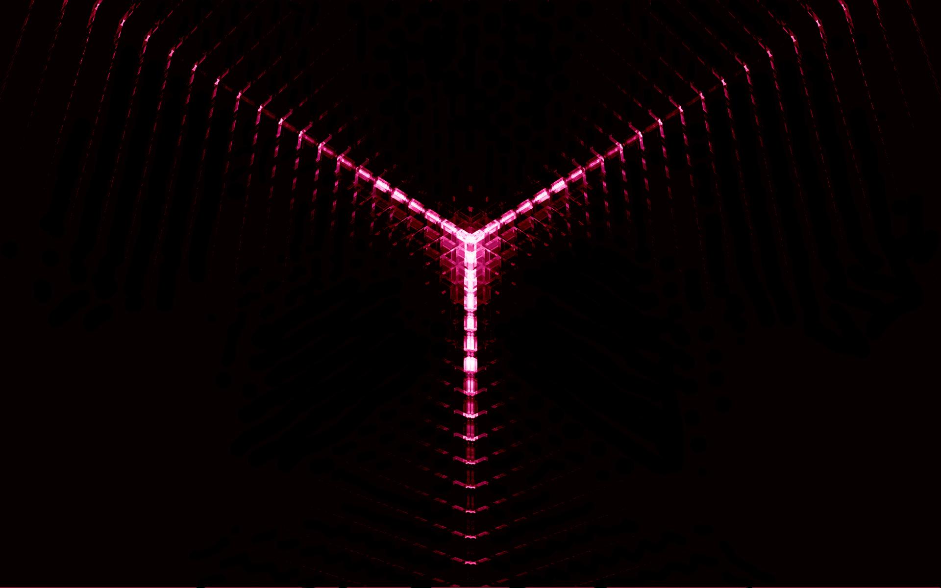 Неоновый свет от 3d объекта  № 941221  скачать