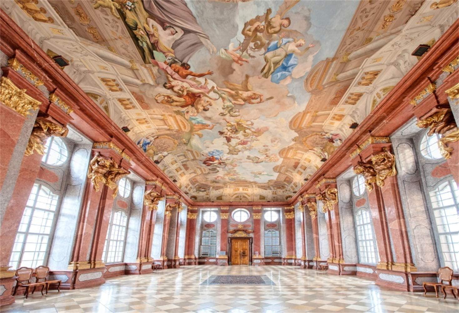 Amazoncom Laeacco 10x7ft Vintage Palace Interior Vinyl 1468x1000