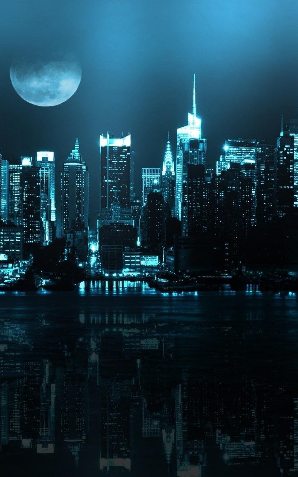 Wallpaper iphone moon - City Skyline Full Moon Iphone 6 Plus Hd Wallpaper Ipod Wallpaper