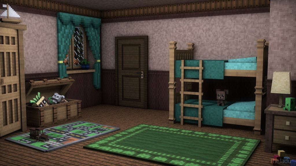 MINECRAFT] Art Childrens Room by TheJadu 1024x576