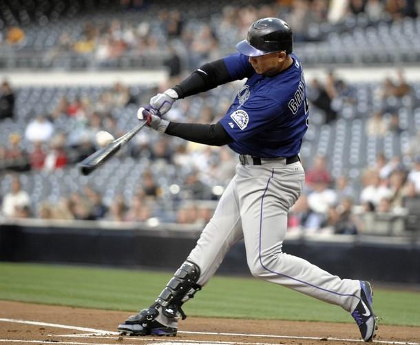Carlos Gonzalez Batting Carlos gonzalez is back to 610x501