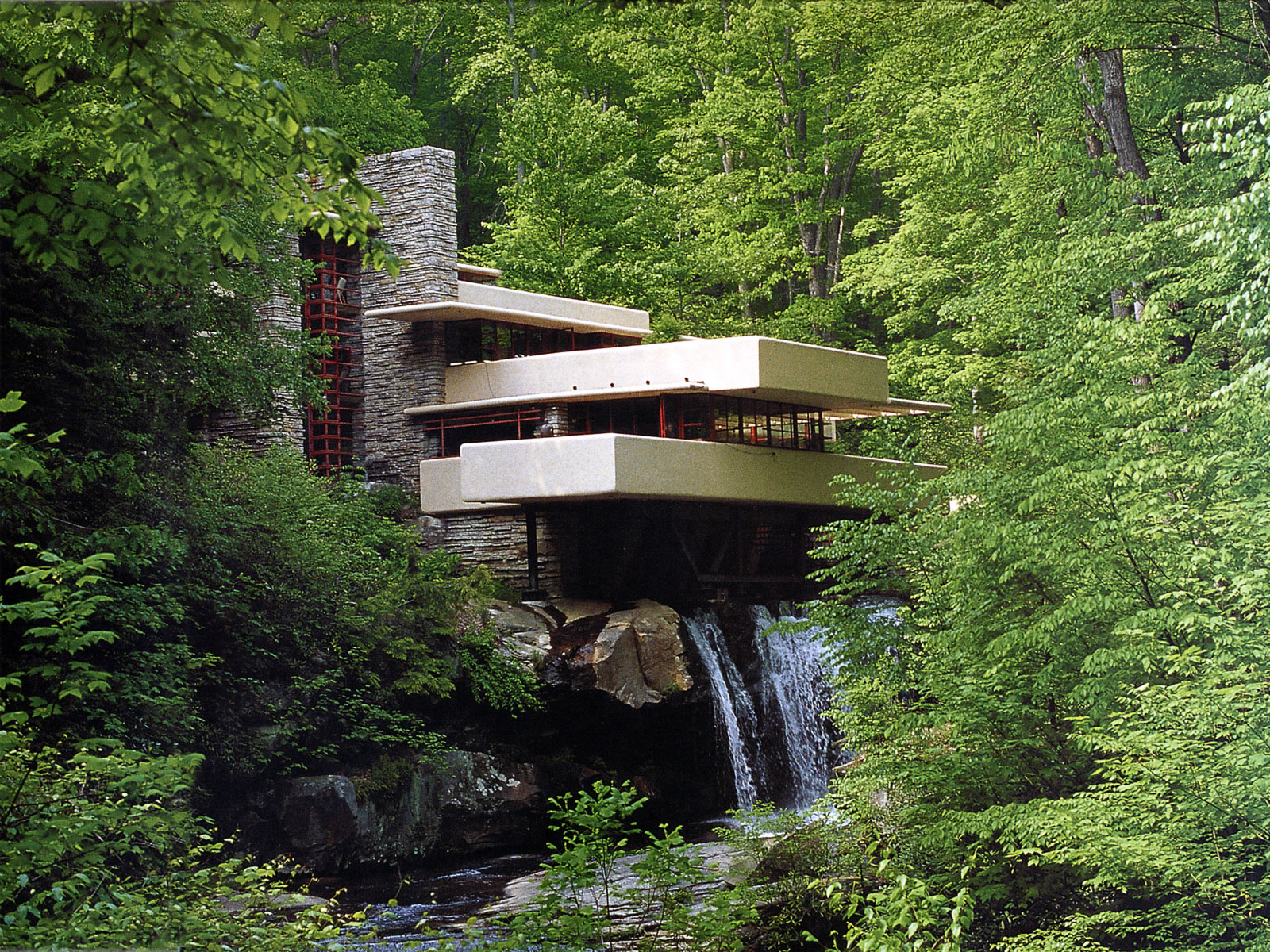 Pennsylvania Fallingwater Frank Lloyd Wright   Buildings Wallpaper 1600x1200