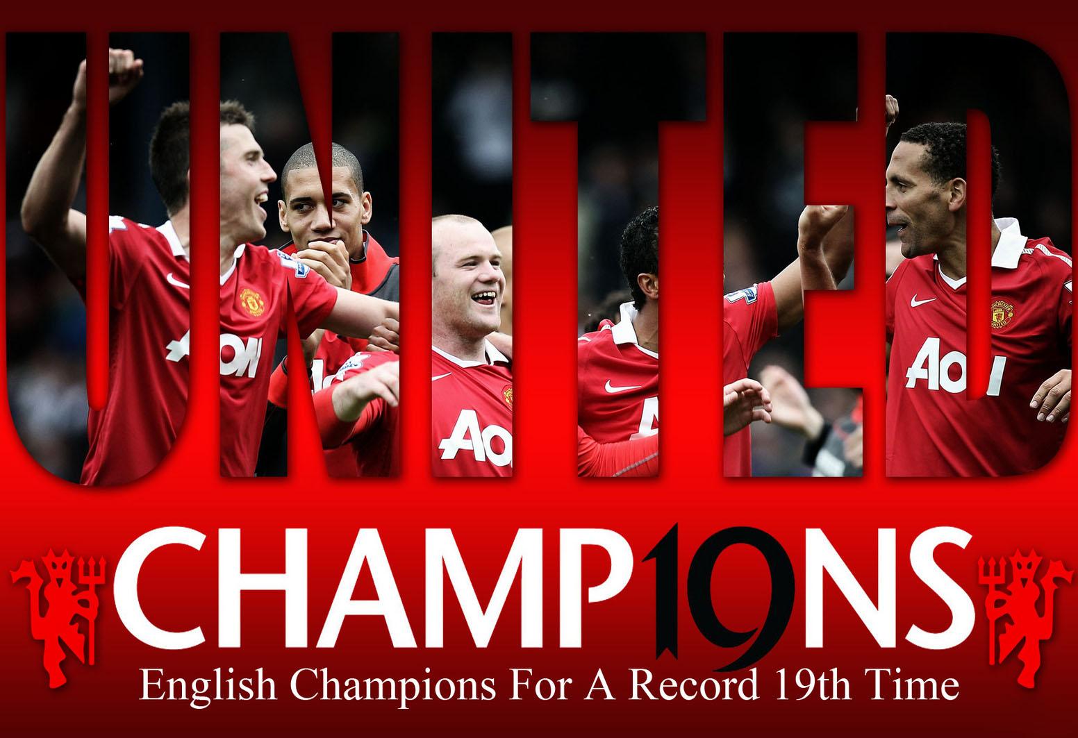 manchester united champions premiere league 2010 2011 wallpaper 1552x1063