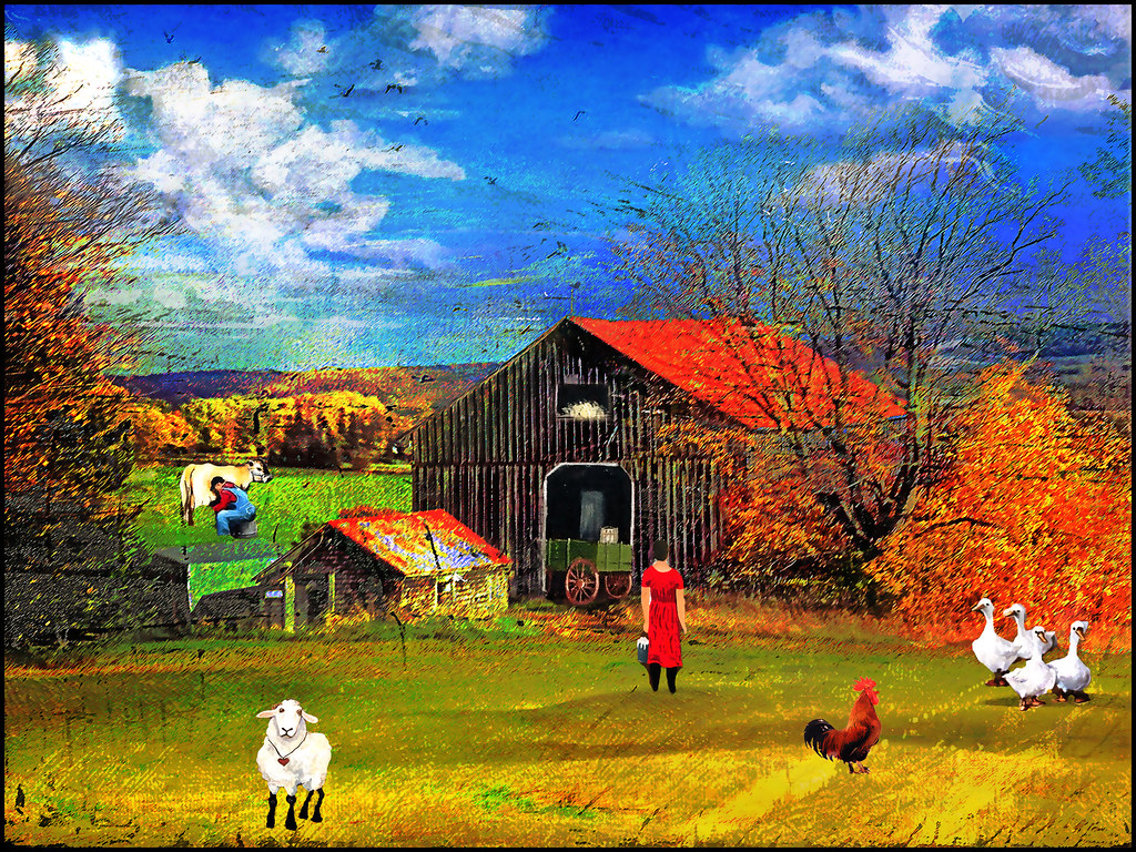 Country pastoral Background is mine Minor elements are fro Flickr 1024x768