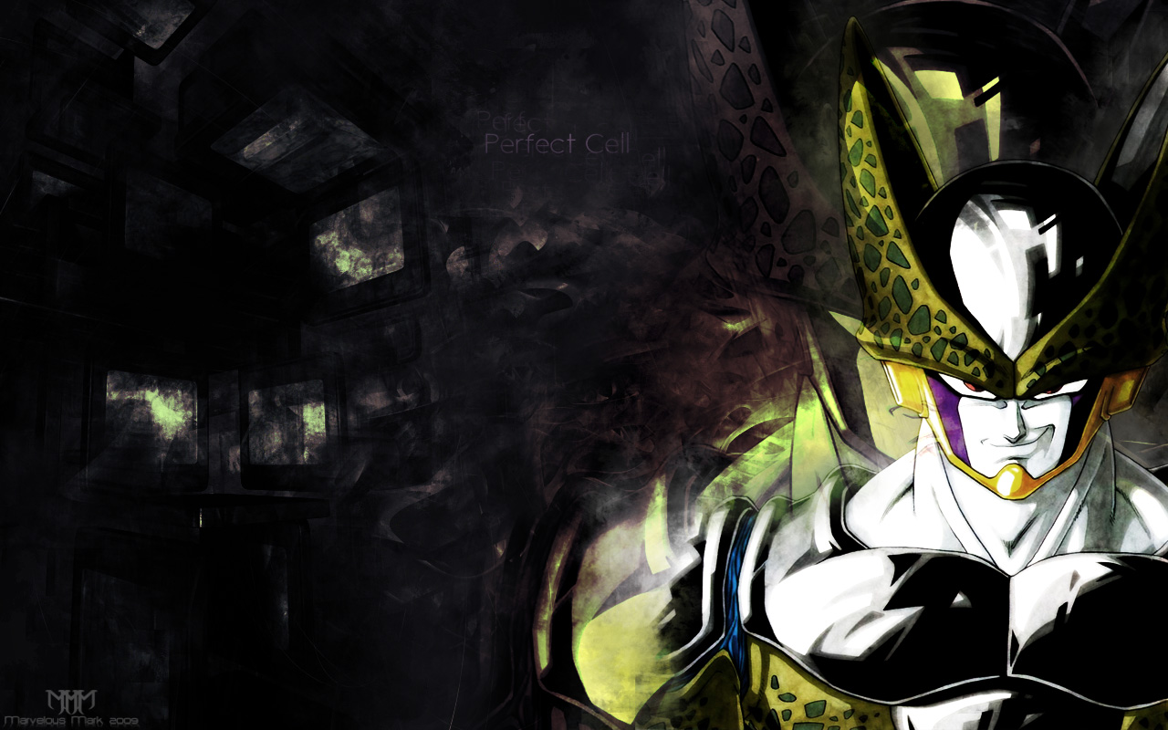 perfect cell wallpaper by marvelousmark fan art wallpaper movies tv 1280x800