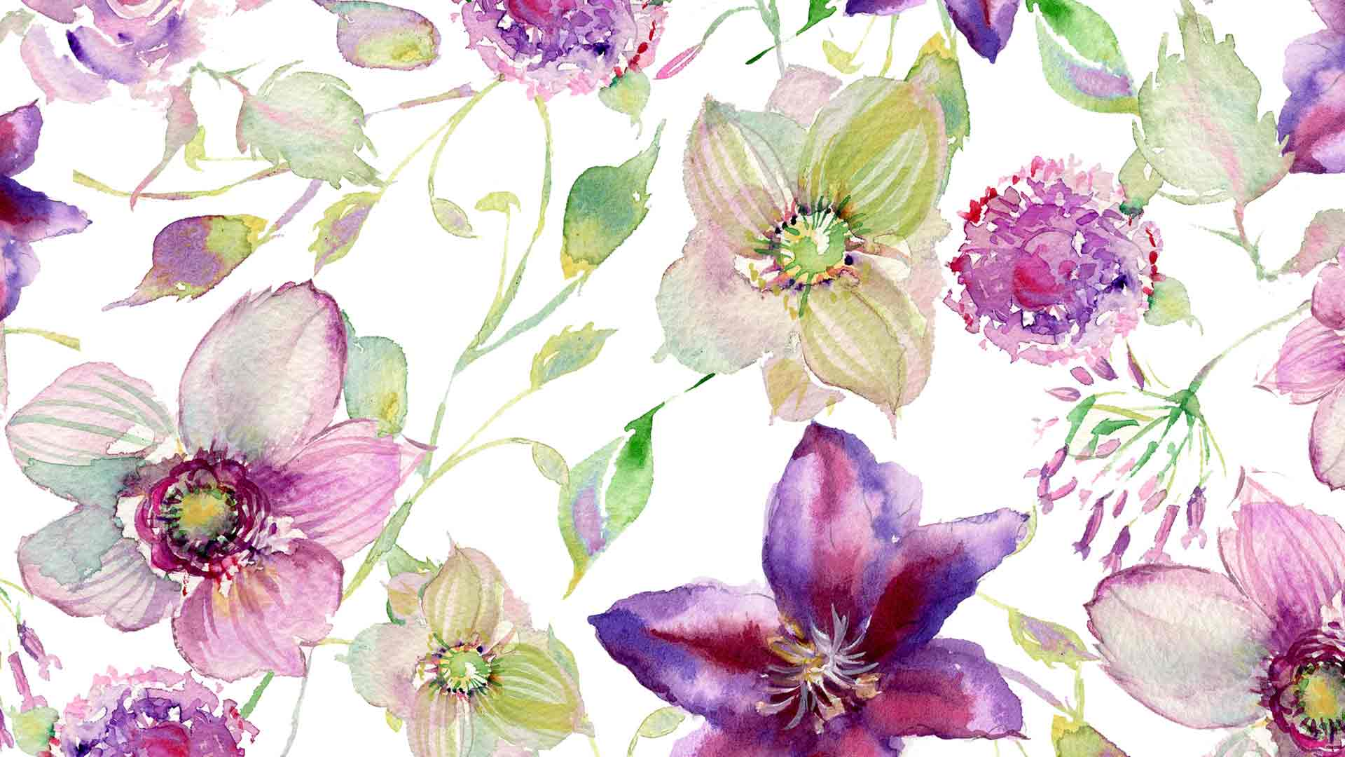 Watercolor Flowers Wallpaper  WallpaperSafari