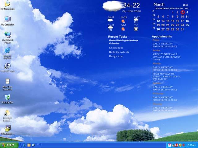 Desktop Calendar   Pretty desktop calendar integrates wallpaper 640x480