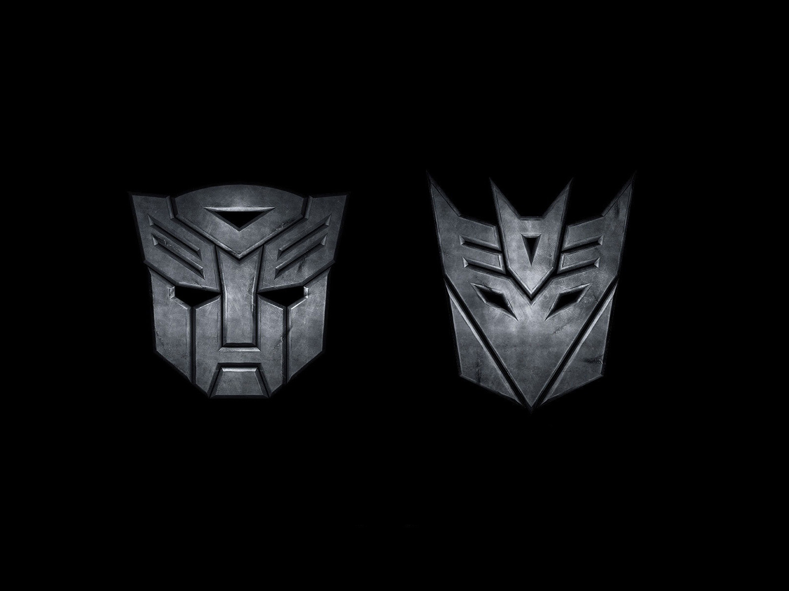 autobots and decepticons logo transformers wallpaper 1600x1200