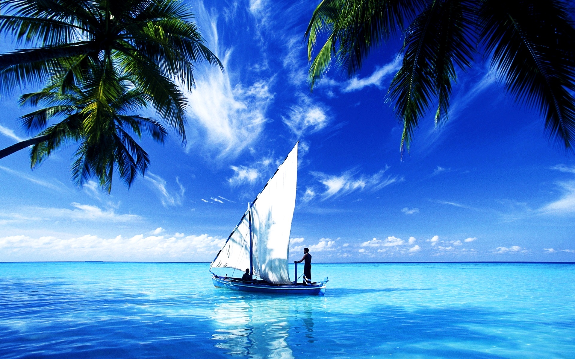 Boat Ocean Wallpapers HD 1920x1200
