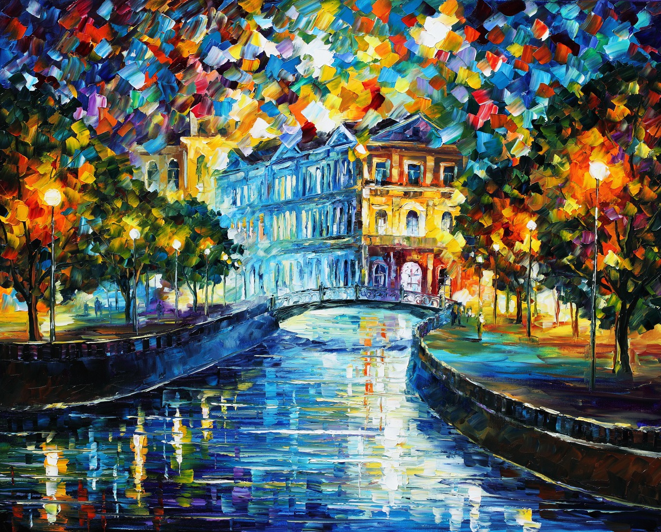 paintings Leonid Afremov oil painting Wallpapers 1363x1097