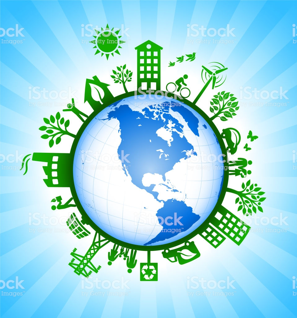 Planet Earth On Environmental Conservation Background Stock 959x1024