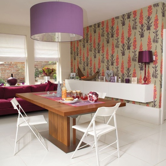 Country wallpaper for dining room wallpapersafari for Dining room decorating ideas wallpaper