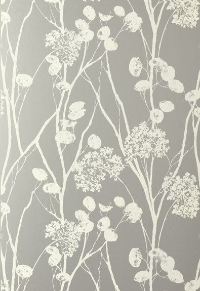 Schumacher Moonpennies Wallpaper in Silver Discount Wallpaper and 395x575