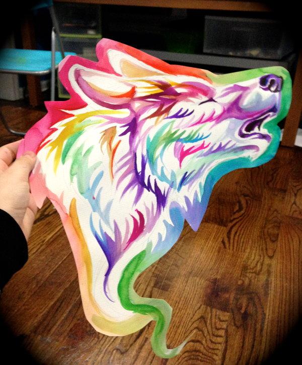 rainbow wolf wallpaper - photo #35
