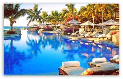 Beautiful Tropical Resort Pool HD wallpaper for Standard 43 54 510x330