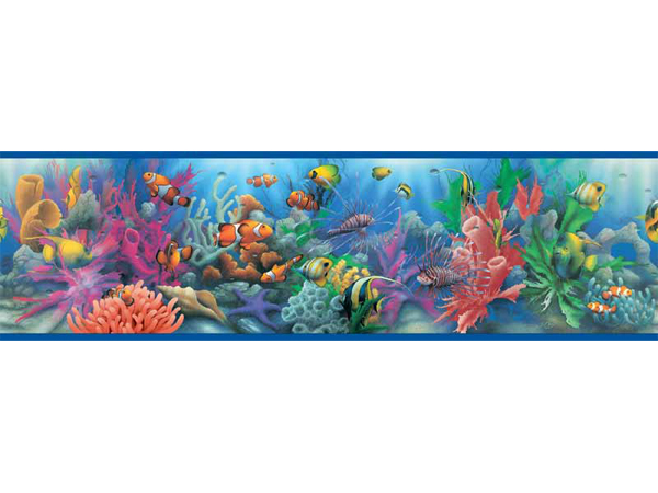 Tropical Fish Wallpaper Border 600x450