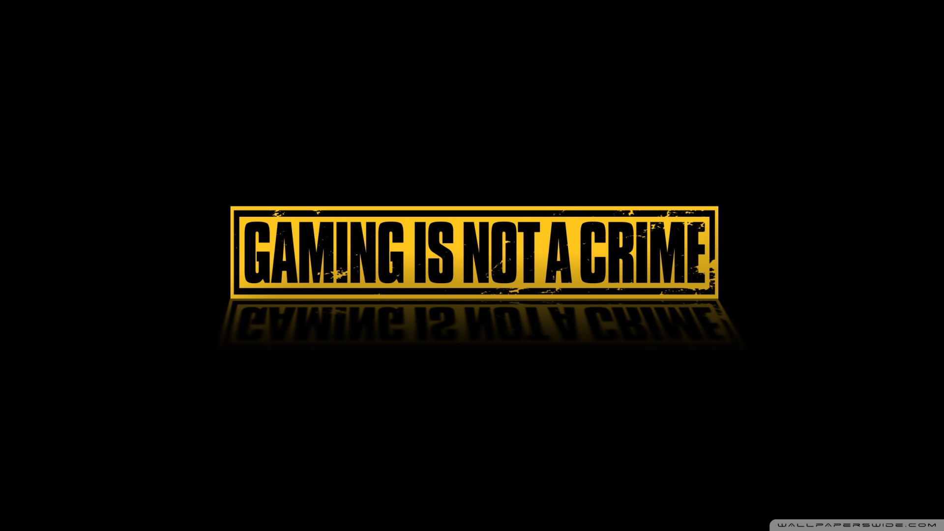 Download Gaming Is Not A Crime Wallpaper 1920x1080 Wallpoper 434966 1920x1080