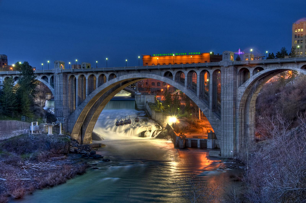Street Bridge which spans over the Spokane River in Spokane 1024x680