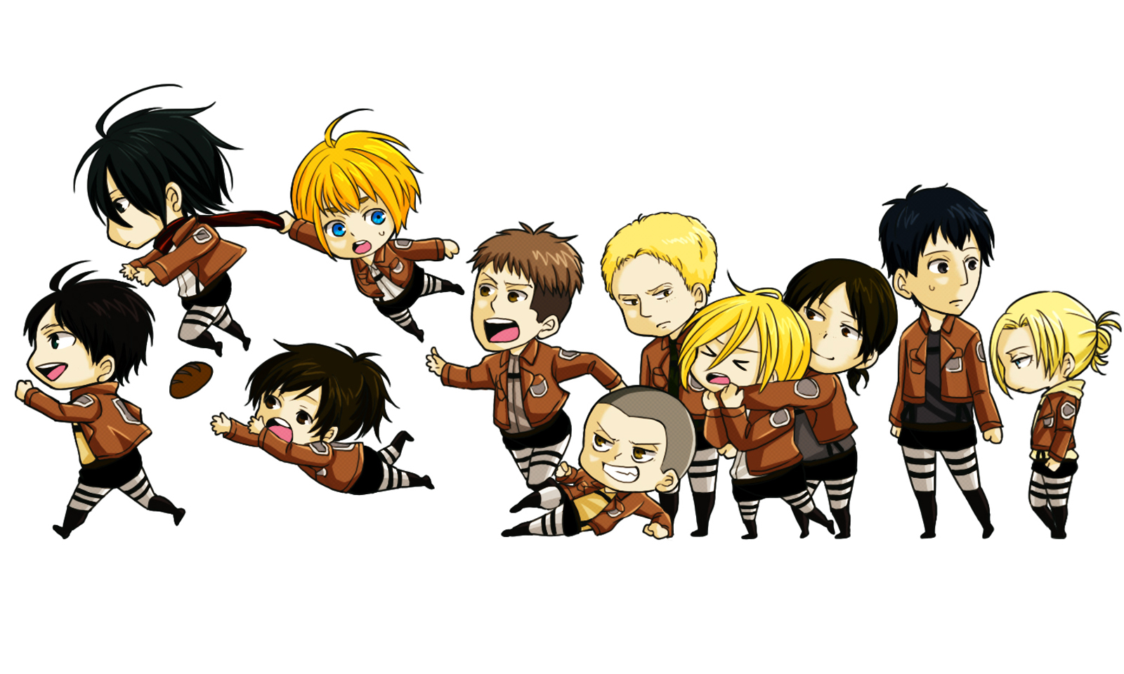 Attack on Titan Chibi Wallpaper HD 30 Background Pictures 1600x960
