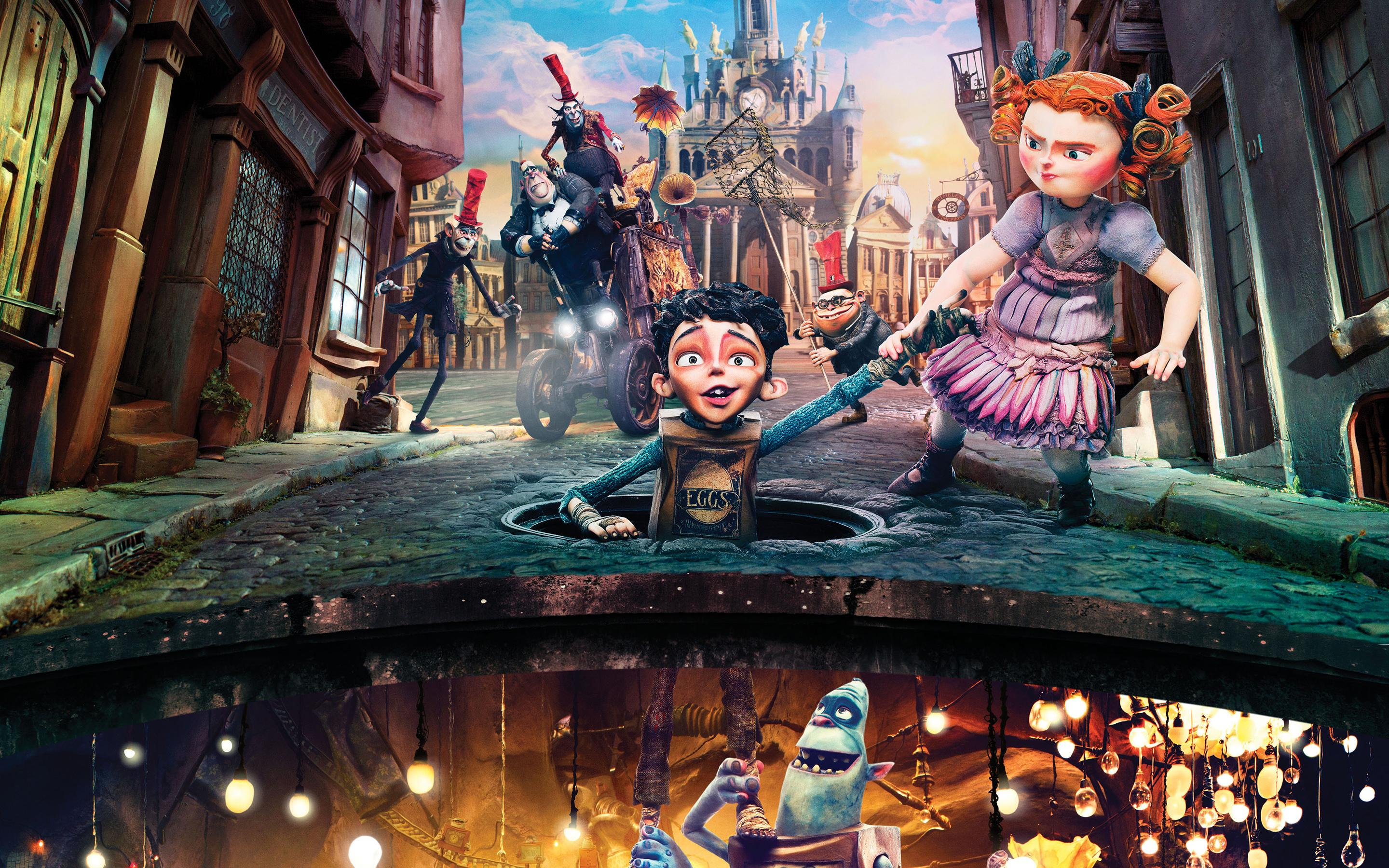 HD The Boxtrolls characters in the city Wallpaper Download 2880x1800