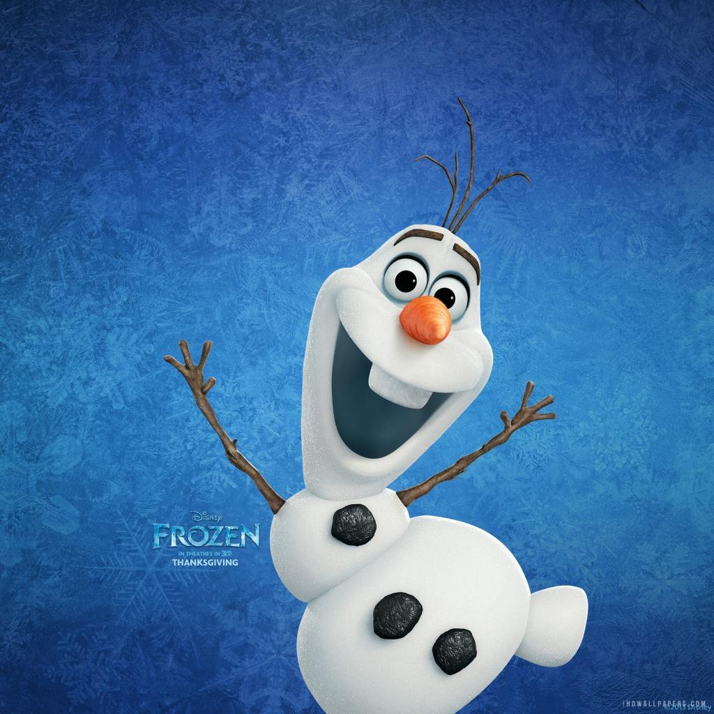 Snowman Olaf HD Wallpaper   iHD Wallpapers 1024x1024