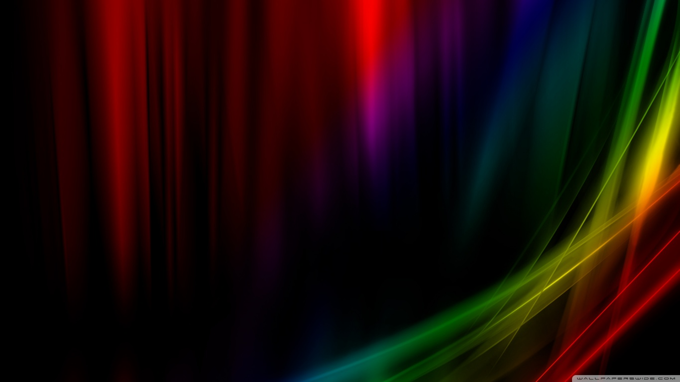Rainbow Aurora Vista 4K HD Desktop Wallpaper for 4K Ultra HD TV 1366x768