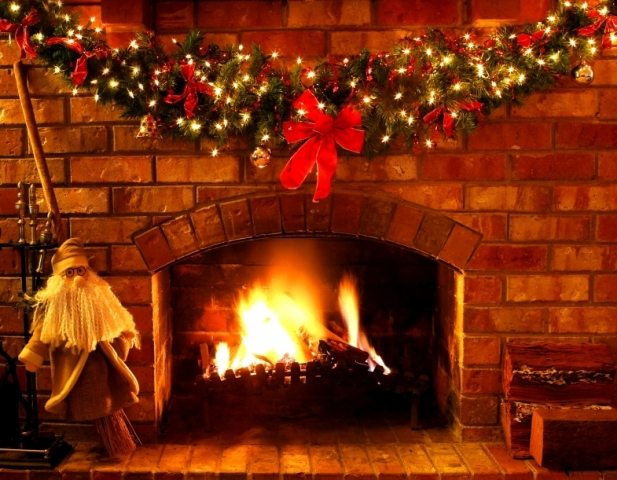 animated Christmas fireplace wallpapers 3d Xmas fireplace Images HD 617x480
