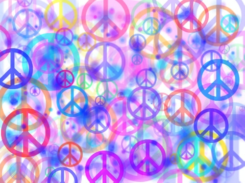Peace Sign Background 500x375